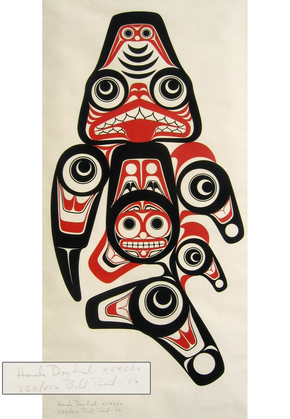 Proud Haida Dogfish By WILLIAM Bill REID Red Kettle